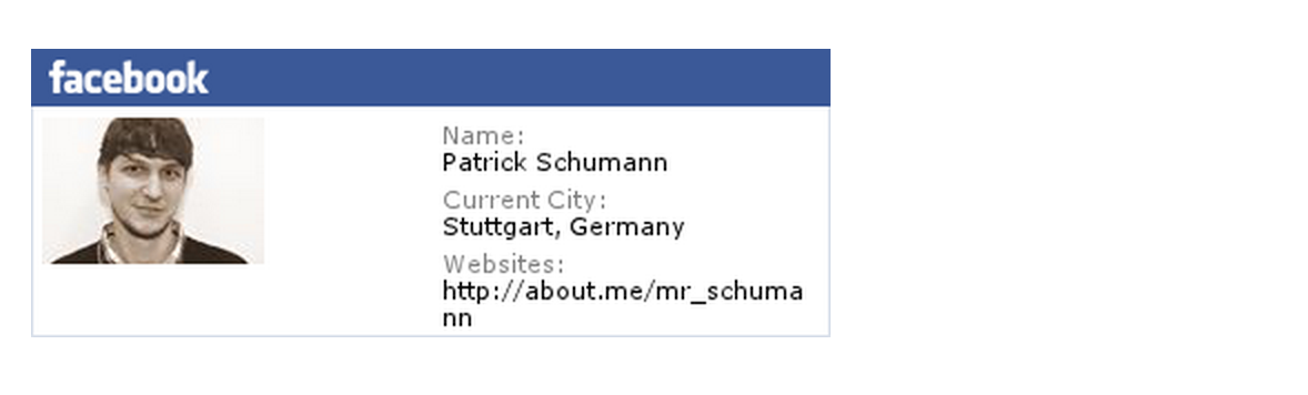 Facebook Badge mrschumann