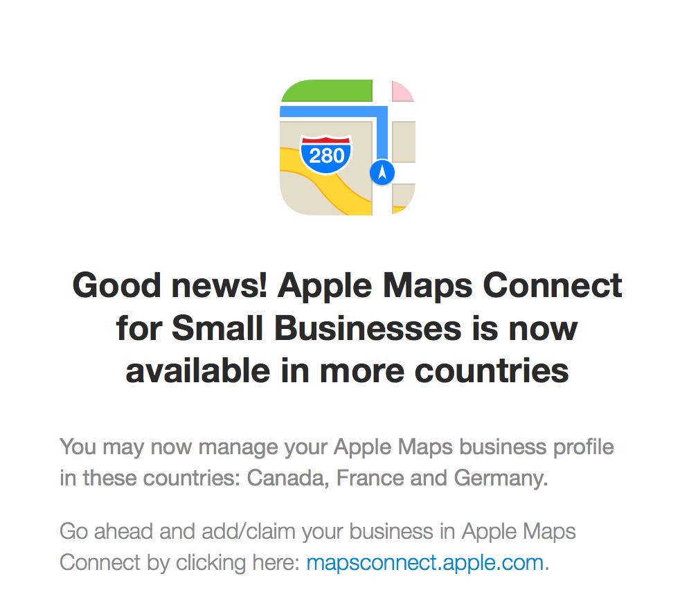 Apple Maps Connect Deutschland